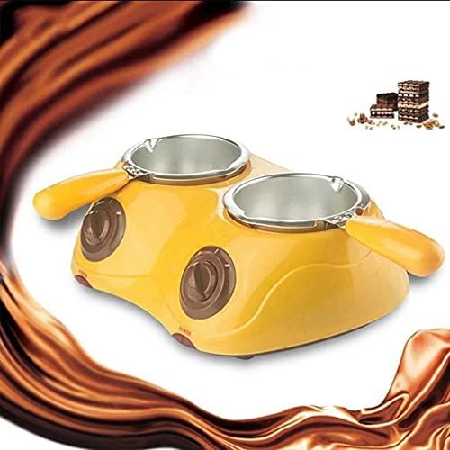 FZYE Mini Fondue de Chocolate eléctrico, fundidor de Chocolate Doble, crisol eléctrico de Chocolate y Caramelos, fundidor de Chocolate eléctrico Doble