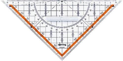 rOtring Centro-Geometrie-Dreieck mit Griff (groß, 23cm)
