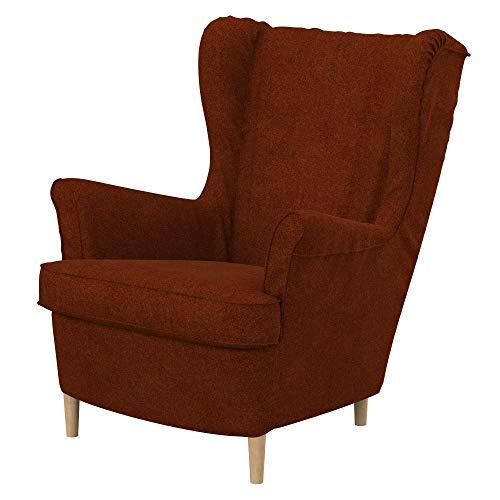 Soferia Funda de Repuesto para IKEA STRANDMON sillón, Tela Strong Copper, Naranja