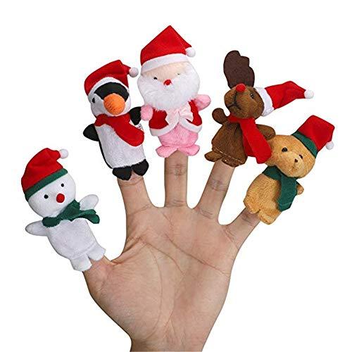 Suneast Juego de 5 Marionetas de Dedo