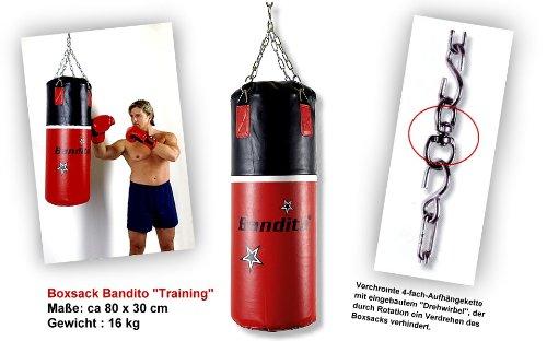 Boxsack Bandito 80cm x 30cm Kampfsport Training Bockssack Box Sack Birne Sandsäcke Punchingbälle Punchingsäcke Trainingsboxsack