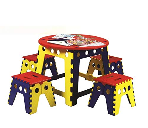 Jennifer Davidson - Juego de mesa plegable para niños, 5 unidades, plástico fuerte