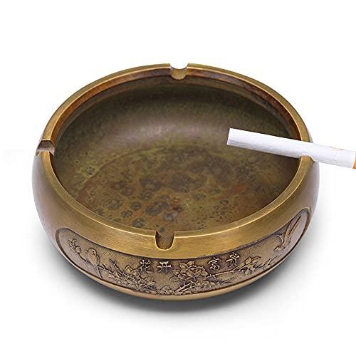 Ceniceros Artesanía Artesanía Antigua Y Antigua Porta Cigarrillos Incorporado Cenicero De Cigarrillos De Cobre Para Jardín, Oficina, Interior, Exterior, Decoración Cenicero Oficina ( Color : Brozen )