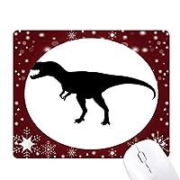小型の恐竜の化石の骨 オフィス用雪ゴムマウスパッド