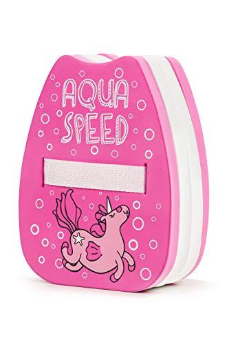 Aqua Speed Schwimmrucksack   Schwimmhilfe Kinder Mädchen 2-6 Jahre   Back Float Swimming Pool   Schwimmen Lernen   Unicorn Pink - Weiß   Kiddie