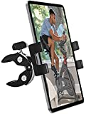 woleyi Spinning Bike Tablet Mount Holder, Indoor Stationary Exercise Bikes Tablet Clamp, Gym Treadmill Elliptical Tablet Stand for iPad Pro 9.7, 11, 12.9 / Air / Mini, All 4-13' Smartphone and Tablets