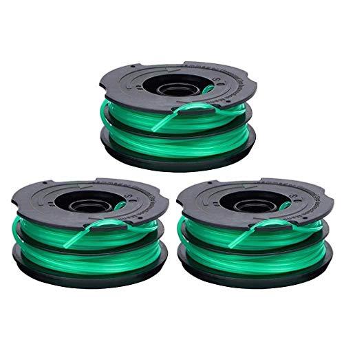 Grasseil DF-080 Auto Feed String Trim.mer Spulenleinenersatz Grass Seil Ersatzleitung für Black & Decker 3-tlg