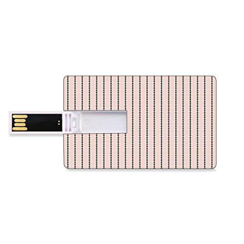 128G Unidades Flash USB Flash Geométrico Forma de Tarjeta de crédito bancaria Clave Comercial U Disco de Almacenamiento Memory Stick Formas de Diamantes de Color melocotón sobre Fondo Crema Impresión