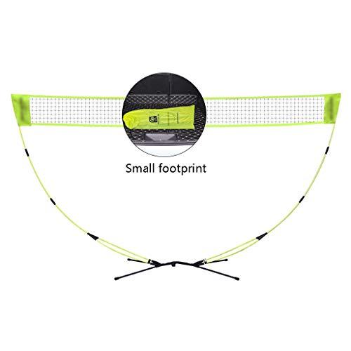 Netze & Garnituren Badminton Badminton-Netzständer tragbarer Tennisständer Klappnetzpfosten einfache Installation mobiler Außen-Netzständer (Color : Yellow, Size : 300 * 150cm)