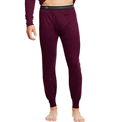 Duofold by Champion Thermals Men's Base-Layer Underwear_Bordeaux Red_L
