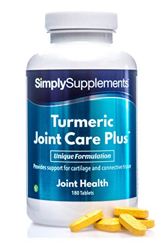 Turmeric 1000mg Joint Care Plus 180 Tablets | Added Black Pepper to Enhance The Absorption of Curcumin | Manufactured in The UK