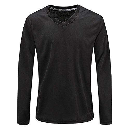 BBYaKi Sport pour Hommes T-Shirt, Black, XXL