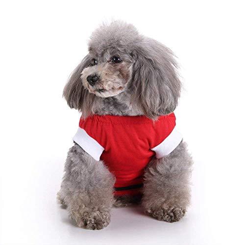 (エスライフ)S-Lifeeling ペット服 術後服 純色 無地 ヘルスケア かわいい 避妊 腹部保護 小型犬 中型犬 犬 猫 術後ウェア ペット用術後服 レッド