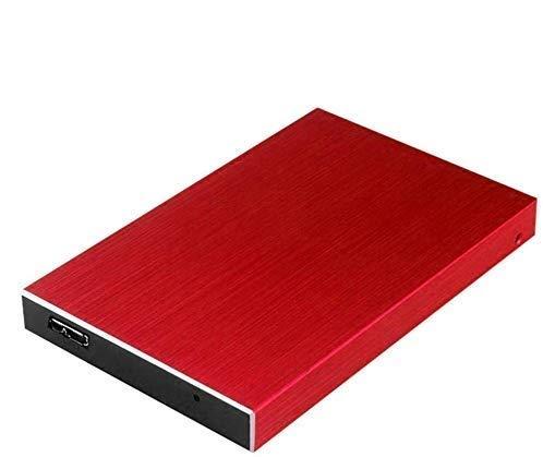 Disco duro externo delgado 1TB/2TB HDD portátil - USB 3.0 para PC portátil y Mac rosso 2 tb