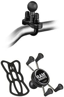 【おすすめセット】RAM MOUNTS(ラムマウント) U字クランプ オートバイ バーハンドル用 + Xグリップ スマートフォン用 テザー付 セット