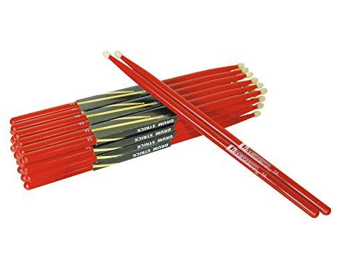 Dimavery 26070110 Bacchette per Batteria Dds-5A, Rosso