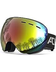 ACURE SG01 skidglasögon – OTG ramlösa snöskyddsglasögon, dubbel lins med anti-dimma och UV400-skydd för män, kvinnor och ungdomar