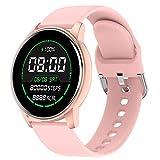 LIGE Smartwatch, Relojes Inteligentes Monitor de Frecuencia Cardíaca IP67 Impermeable 1.3 Pulgadas Táctil Completa Rastreador de Actividad Deportiva para Mujer para iOS Android