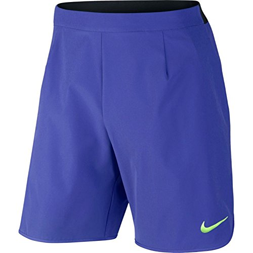 Nike Herren Court Flex 9 Zoll Ace Shorts, Paramount Blue/Black/Ghost Green, XL