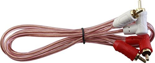 VZ-334 VOYZ RCA Audio Cable with Dual Gold Plated Molded Connectors 2 RCA L Shape to 2 RCA Male Full Copper Series 3FT