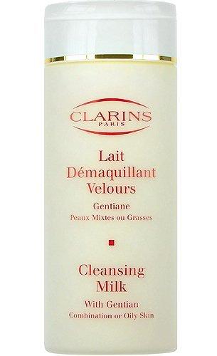 Clarins Lait Demaquillant Velours Gentiane Reinigungsmilch für fettige Haut, 200 ml