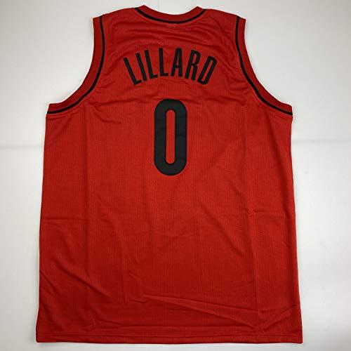 Unsigned Damian Lillard Portland Red Custom Stitched Basketball Jersey Size Men's XL New No Brands/Logos