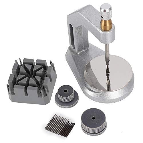Correa de reloj de metal que ajusta la máquina de extracción Herramienta de reparación de relojes, con soporte de correa de reloj, para ajustar y fijar la correa de reloj y la correa de reloj