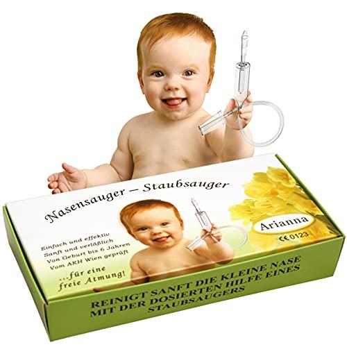 Nasensauger Baby. Das Original. Mit 2 Saugköpfen und Gratis Reinigungsbürste - klinisch getesteter Baby Nasensauger - der sichere und sanfte Nasensauger Staubsauger für jeden Staubsauger