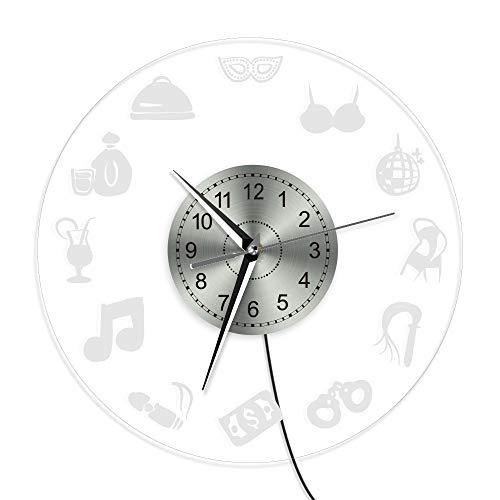ZYQ Relojes de Pared para Sala de Estar Oficina Moderna Cocina Niños...