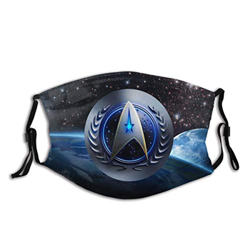 Mundschutz Mundschal Gesichtsschutz Star Trek Abzeichen Atmungsaktive Staubdichte Wiederverwendbarer Bnadana Balaclava mit Filter