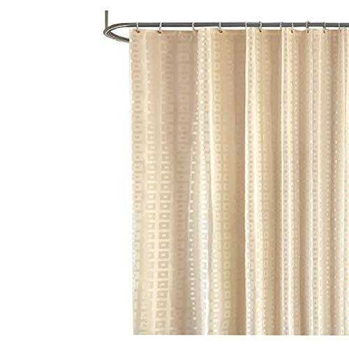 YLXD Duschvorhang, Duschabtrennung für Badewanne und Duschwanne | Vorhang aus Stoff mit verstärkter Oberkante | Polyester,Waschbarer, Anti-Schimmel, Anti-Bakteriell für Badezimmer