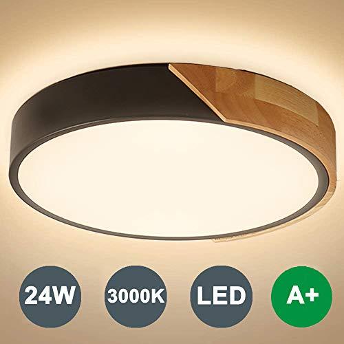 Kambo LED Deckenleuchte Rund 24W 2400LM Warmweiß 3000K Ø30CM LED Deckenlampe Rund Modern Büro Lampe Schlafzimmer Leuchte, für Wohnzimmer Balkon Flur Küche Babyzimmer Schlafzimmer Kinderzimmer