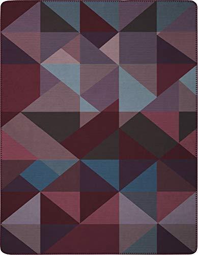 Biederlack Decke Sofaüberwurf Baumwolle Lila 150 x 200 cm
