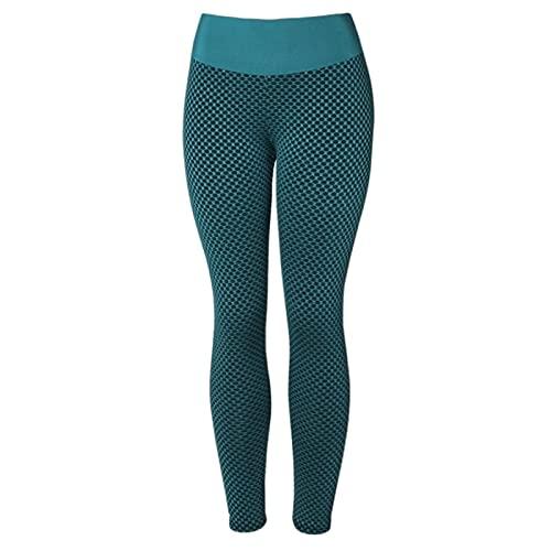 Hhwei Honeycomb Leggings Push Up Mujer Mallas de Deportivos Pantalones Alta Cintura Elásticos Yoga Fitness
