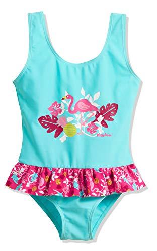 Playshoes Mädchen UV-Schutz Flamingo Badeanzug, Türkis (Türkis 15), 110 (Herstellergröße: 110/116)