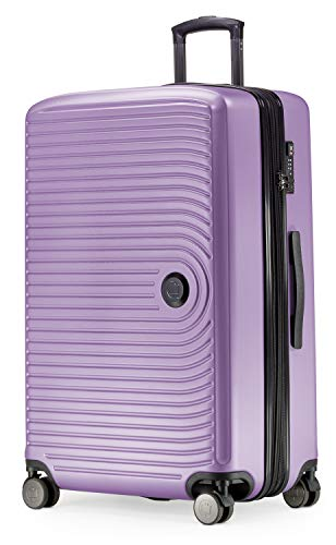 HAUPTSTADTKOFFER - MITTE - Large Check-in Trolley, Hard Shell Suitcase with Extension, TSA, 4 Double Spinner, 76 cm, 130 L, Lilac