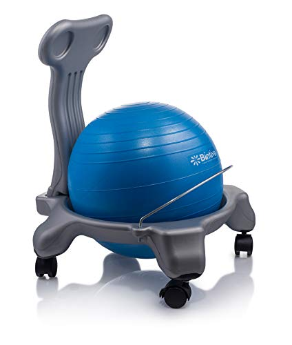 Ball Chair for Children - Includes Free Air Pump. Keeps The Mind Focused While Promoting A Healthy Posture.
