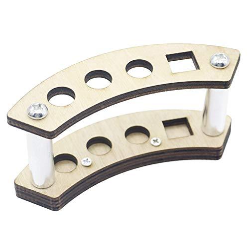 P Prettyia 4Holes Talla Craft Wood Tool Rack Brushes Modelado Organizador Del Soporte Del Soporte - tal como se describe, 9.7mm