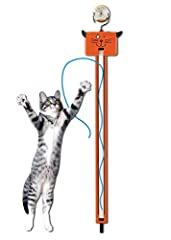 A battery-operated string-flinging machine offering nonstop entertainment for kitty (takes 3 AA batteries not included; also takes rechargeable! Best with Polaroid AA Batteries) Multi Award Winning including Editor's Choice in Cat Fancy Magazine and ...