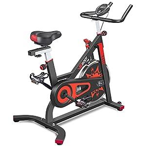 VIGBODY Exercise Bike Indoor Cycling Bicycle Stationary Bikes Cardio Workout Machine Upright Bike Belt Drive Home Gym