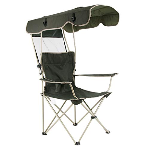 BBGS Beach Chair Portable Folding Chair, Beach Chairs, Fishing Chair, Sunshade, with Armrests, Adjustable (Color : A)