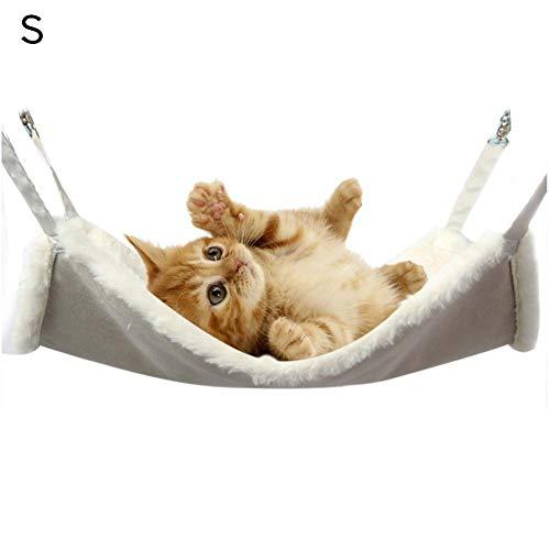 Easy-topbuy Katzenhängematte, Weiche Exquisite Haustier Hängebett Käfighängematte Für Kätzchen/Kaninchen/Kleine Hunde/Frettchen, Einfach Zu Säubern Lager 15kg