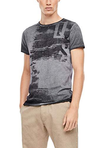 Q/S designed by - s.Oliver Herren Jerseyshirt im Fade Out-Look dark grey M