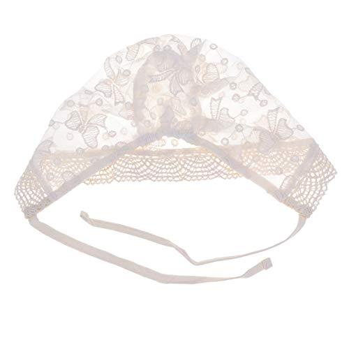 Toyvian Corbata de Lazo Corbata de Encaje Gorro de algodón Transpirable Sombrero para bebé Infantil