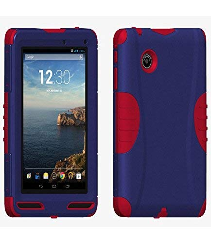 Verizon Rugged Case With Built In Screen Protector for Ellipsis 7 - Blue/Red Retail Packaging