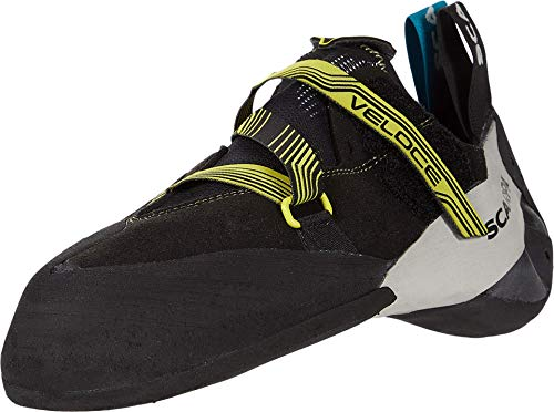 SCARPA Veloce Climbing Shoe - Men's Black/Yellow 11.5-12 US/45.5 EU