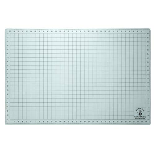 """Creative Mark 24x36 Professional Self Healing Cutting Mat for Home Office & Studio Without Harming Your Desk Studio Design Lightbox Shop Craft & Hobby Use - [24x36"""" - Translucent]"""