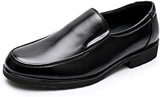 CAIFENG Negocio Formal Oxford para Hombres de Moda de Ocio Zapatos de Vestir Slip en Cuero Genuino Toe Redondo tacón Plano...