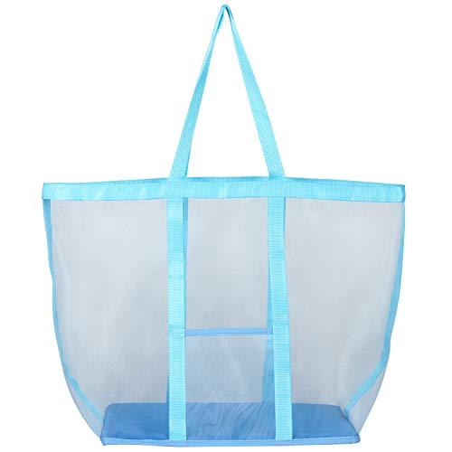 アストロ ランドリーバッグ ライトブルー 約幅39×奥行24×高さ40cm メッシュ素材 洗濯カゴ 洗濯物入れ 820-30 大