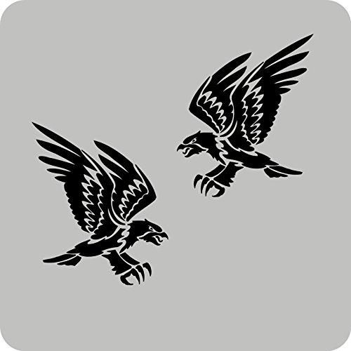 2 Falken-Aufkleber zur Dekoration von Wänden, Glasprodukten, Fliesen und allen anderen glatten Oberflächen